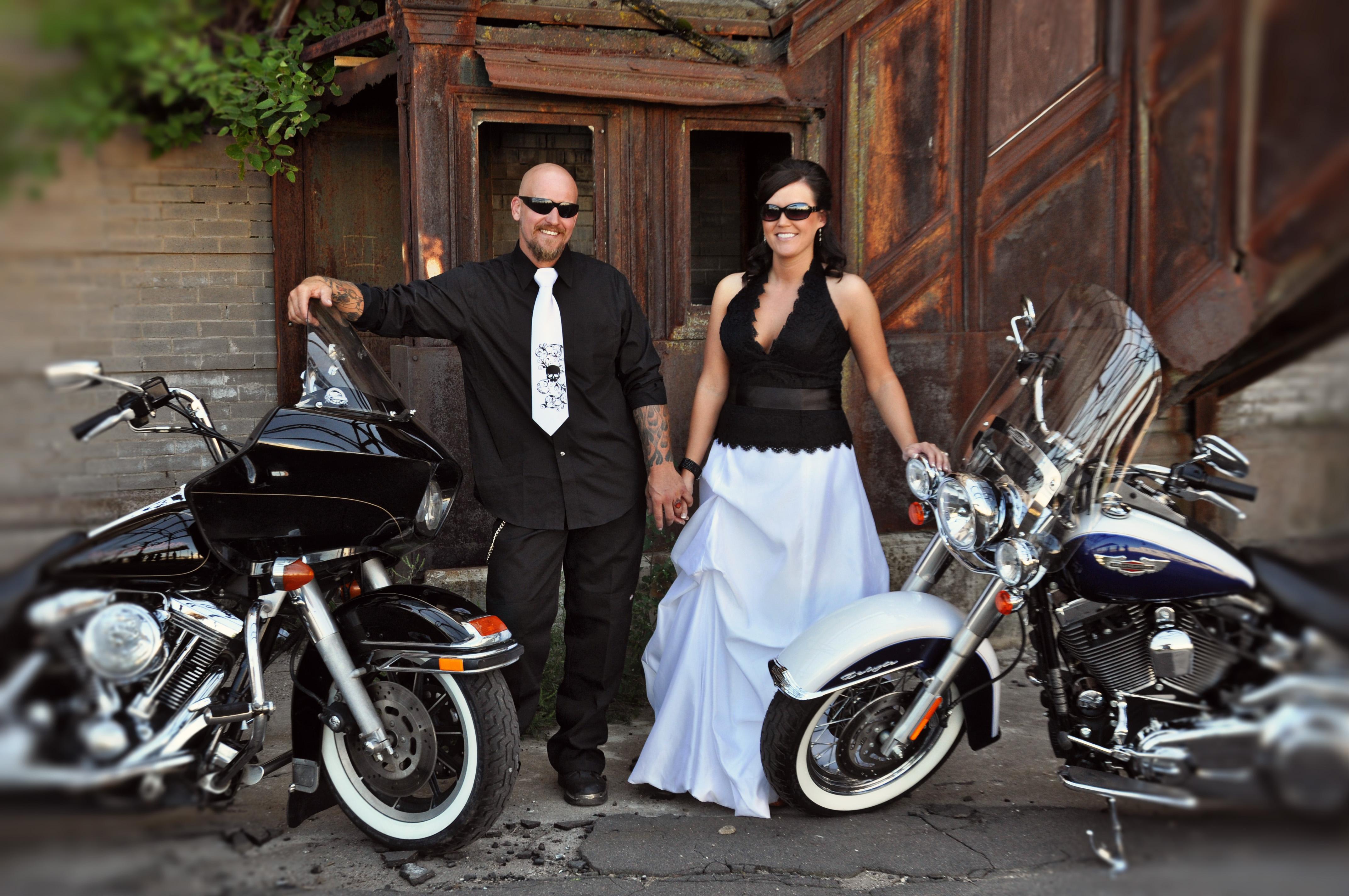 Harley Davidson Wedding: Harleys And Heels