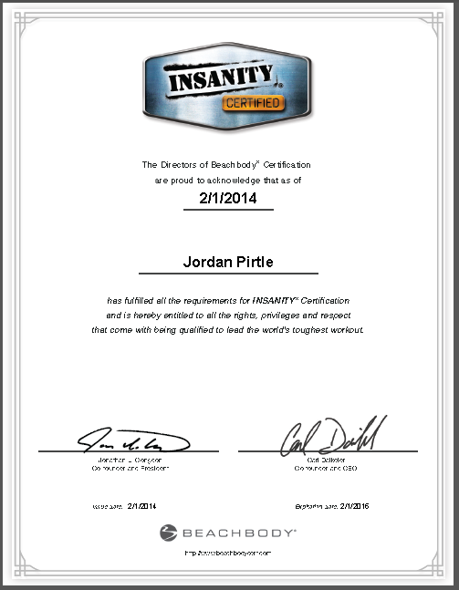 Insanity Certification- What to Expect | Harleys and Heels