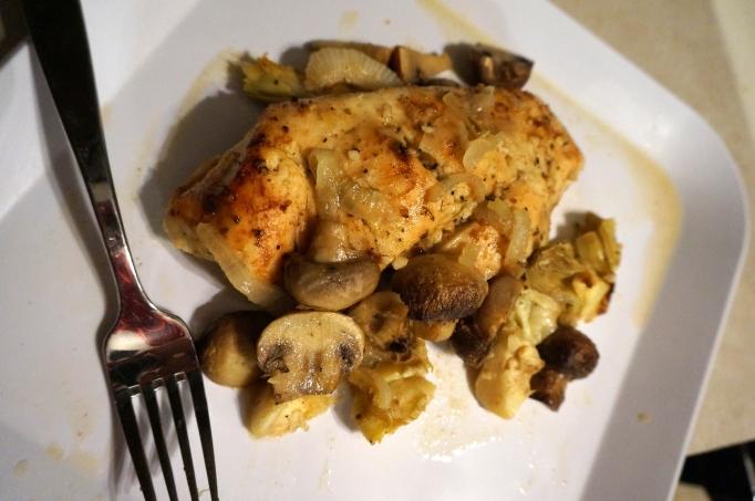 Mushroom Artichoke Chicken w/ Honey Mustard Red Wine ...
