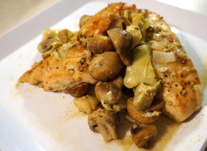 Artichoke Mushroom Chicken