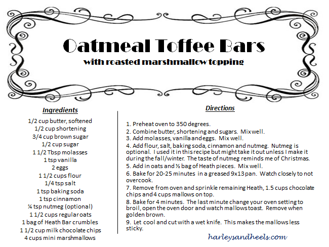 Oatmeal Toffee Recipe