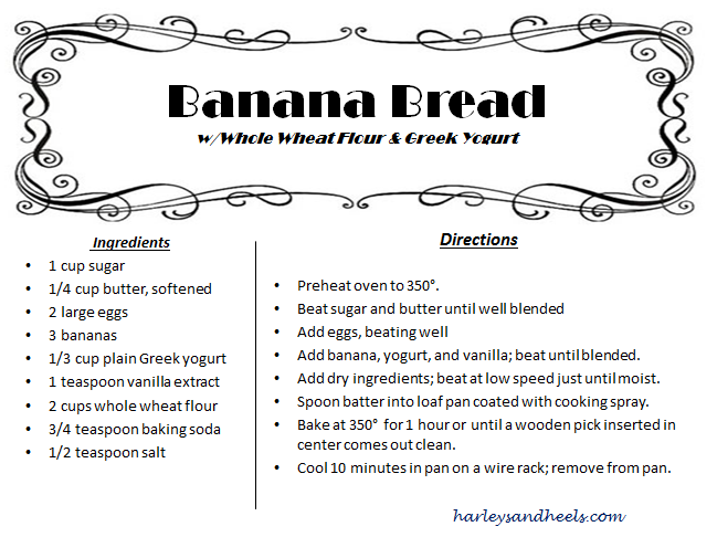 Banana Bread whole wheat